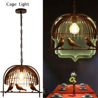 Vintage Industrial Bird Cage Ceiling Chandelier Loft Pendant Light Shade Lamp UK