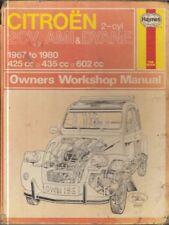 CITROEN 2CV 2CV4 2CV6 DYANE 4 / 6 & AMI 6 / 8 1967 - 1980 OWNERS WORKSHOP MANUAL