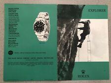 Rolex libretto booklet per Explorer Ref. 1016 in inglese del1969