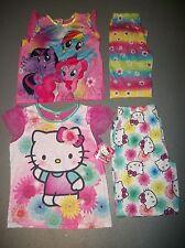 LOT OF 2 PAJAMA SETS HELLO KITTY & MY LITTLE PONY RAINBOW PJS GIRLS SZ 10