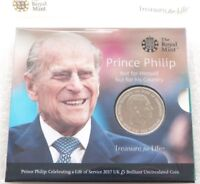 2017 Royal Mint Prince Philip Life of Service BU £5 Five Pound Coin Pack Sealed