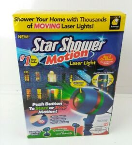 Star Shower Motion Laser Light Projector red/green Works! Moving Lights