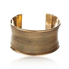 81stgeneration Brass Gold Tone Rope Adjustable Bangle Cuff Bracelet