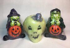 HALLOWEEN Candles Skull, Frankenstein, Witch