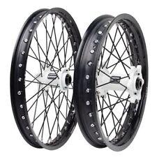 Honda CR125R CR250R CRF250R CRF450R Tusk Impact 21/19 F/R Wheel Kit Black/White
