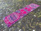 Bohemian runner rug, Turkish vintage rug, Handmade wool rug | 2,5 x 9,0 ft