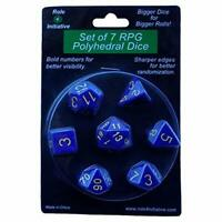 Polyhedral Dice: Opaque Dark Blue With Gold Numbers - Set Of (US IMPORT) ACC NEW