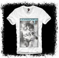 Hipster Kurzarm Herren-T-Shirts aus Mischgewebe