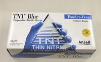 Blue Nitrile Powder Free Gloves Medical Exam Large 100 Pieces/Box