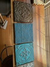 Antique Vintage Ceiling Tins (lot Of 5)