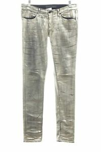 JUICY COUTURE Jeans a sigaretta oro stile stravagante Donna Taglia IT 38
