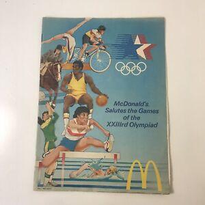 Vintage Booklet 1984 McDonalds Salutes The Games XXIII Olympiad LA Olympics