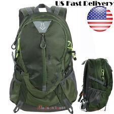 Men women Waterproof Sport travel Hiking Camping backpack Rucksack bag nylon US