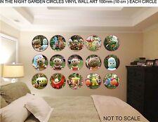 IN THE NIGHT GARDEN CIRCLES VINYL WALL ART 100mm (10 cm ) EACH CIRCLE