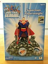 SUPERMAN Paperweight, DC COMICS JUSTICE LEAGUE UNLIMITED SDCC Exclusive RARE HTF