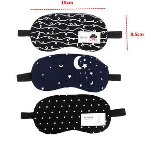 1PCS Sleeping Eye Mask Cotton Soft Sleep Aid Travel Rest Eye Shade Cover