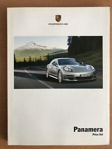 Porsche Panamera price list brochure 2011 2012