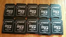30 microSD vers SD adaptateurs 2 Go 4 Go 8 Go KINGSTON 30x Converter New unselaed