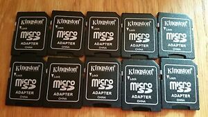 20 MicroSD To SD Adapters Kingston 20x Converter 2GB And Higher New Unsealed **+