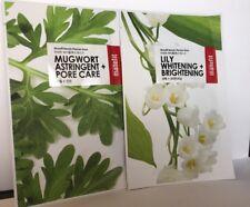 Manefit Beauty Sheet Mask Set- Mugwort (Pore Care) and Lily (Brightening)