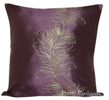Sanderson Feather Silk Embroidery Luxury Cushion Cover