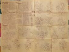 Rare VTG 60s Floral Transfers with Crochet & Tatted Trims/Edges PATTERN New/UC