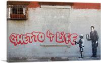 ARTCANVAS Ghetto 4 Life Canvas Art Print by Banksy