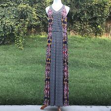 Ella Moss Maxi Dress S New Pattern Chevron Key Hole Racerback Flowy Loose Fit