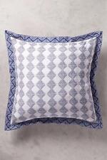 Anthropologie Bedding Euro Pillow Shams Navy Blue Catarine Set of 2 Hothouse New
