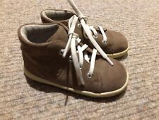 Cute 100% Leather Baby Toddler Shoes Boots, Suede, Excellent Quality, Size 4.5