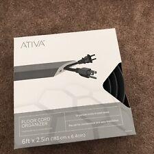"Ativa™ Floor Cord Organizer, 6', Gray ""NEW"""