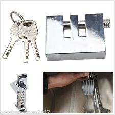 Silver Stainless Steel Car SUV 8 Hole Clutch Lock Anti-Theft Device Security Kit