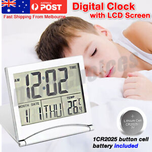 Home Digital LCD Screen Travel Alarm Clocks Desk Thermometer Timer Calendar