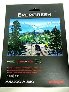 New ListingAudioQuest Evergreen 3.5mm Aux to Rca Male 2 ft. (0.6m)