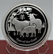 2015 1 oz Australian Perth Lunar II The Year of the Goat Silver Proof Coin