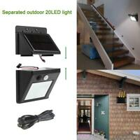 Solar LED Wall Lamp Motion Sensor Separable Light Waterproof Outdoor Garden Yard