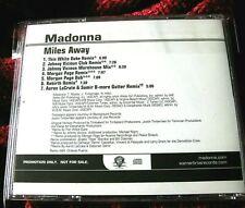 MADONNA MILES AWAY CLUB REMIXES HARD CANDY LP BLACK & WHITE US PROMO CD SINGLE