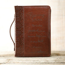 Amazing Grace Brown LuxLeather Large Bible Cover by Christian Art Gifts