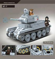 World War II Building Block Soviet BT-7 Light Cavalry Tank Mini Figure DIY Toy