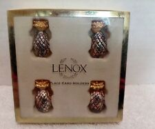 Lenox Williamsburg Pineapple Place Card Holds Set of 4 in Original box
