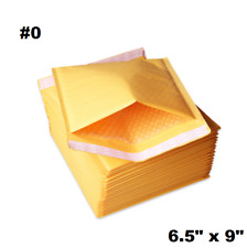 "100PCS #0L 6.5x10"" Golden Kraft Bubble Padded Shipping Envelope Mailers Bag"