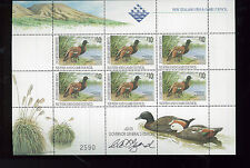 NEW ZEALAND DUCK STAMPS SIGNED - Gov Gen Edition/1993 US edition Sheet of 6 -BBB