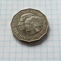 1981 Australian 50 Cent Coin - H.R.H The Prince of Wales and Lady..(Low Mintage)
