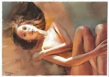 original drawing A3 300SA art by samovar female nude watercolor Signed 2020