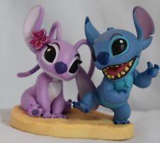 Disney Authentic STITCH & ANGEL FIGURINE Cake TOPPER LILO & STITCH Pvc Toy NEW
