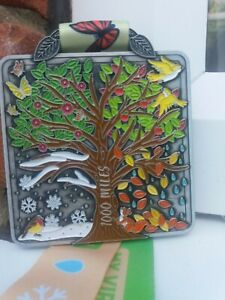 New - 'A Thousand Miles' running walking cycling medal through the seasons
