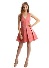 Knee Length Cotton Blend Formal Solid Dresses for Women