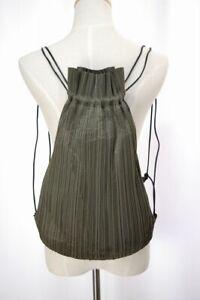 PLEATS PLEASE Green Backpack ISSEY MIYAKE 118 2381