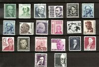 US 1965 Sc #1278-1295 Prominent Americans MINT NH/LH - 20  Stamps