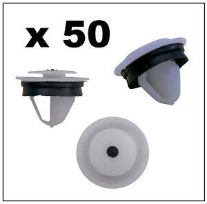 50 x SLIDING DOOR TRIM RAIL FASTENER CLIP for VOLKSWAGEN CADDY & TRANSPORTER T5